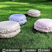 Гигантские фигуры пирожных Macarons / Макаронс для декора реквизит для фотосессии,